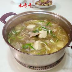 豆腐芽菜粉丝汤锅