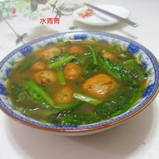 莴笋叶鱼丸汤