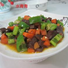 胡萝卜青椒猪血丁
