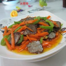 胡萝卜煸腊牛肉