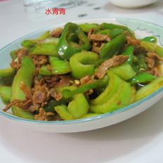 青白菜梗子炒肉