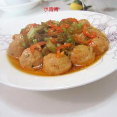酸辣椒蒸肉丸