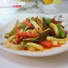 芹菜烤肠海带咝