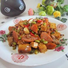 火腿熏干黄豆炒肉