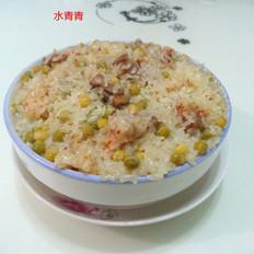 肉香豌豆糯米饭