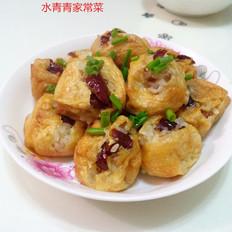 香甜糯米酿炸豆腐