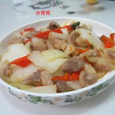 白菜梗子炒肉