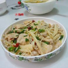 金针菇炒肉片