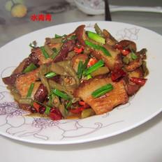 酸豆角炒东坡肉