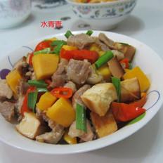 豆腐南瓜丁炒肉