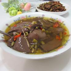 酸豆角猪血汤