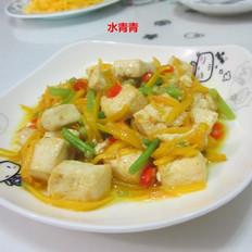 南瓜丝烧豆腐