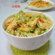 白菜煎蛋的做法