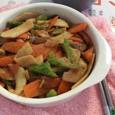 杏鲍菇炒苦瓜