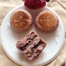 紫薯面肉饼