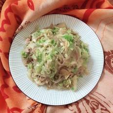 圆白菜炒粉