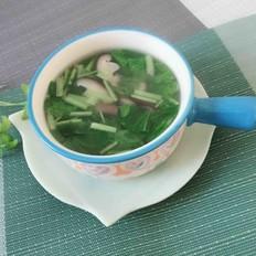 香菇小白菜汤