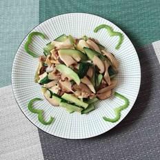 瓜片炒双菇
