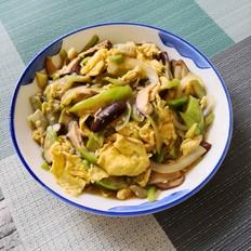 香菇丝瓜炒鸡蛋
