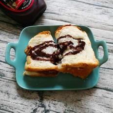 自制豆沙巧克力面包卷