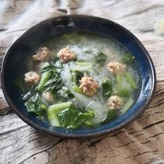 羊肉丸子小白菜汤