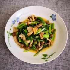 菜心烧蟹味菇