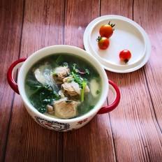 砂锅排骨小白菜粉丝汤