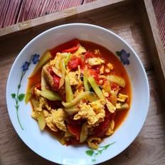 西红柿炒旱黄瓜