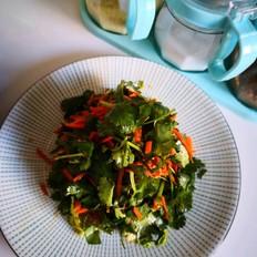 酸甜香菜拌胡萝卜