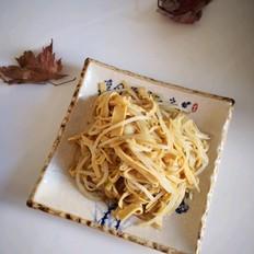 绿豆芽炒干豆腐