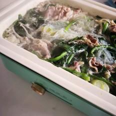 菠菜粉丝羊肉片