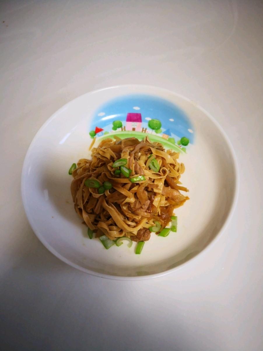 干豆腐炒咸菜