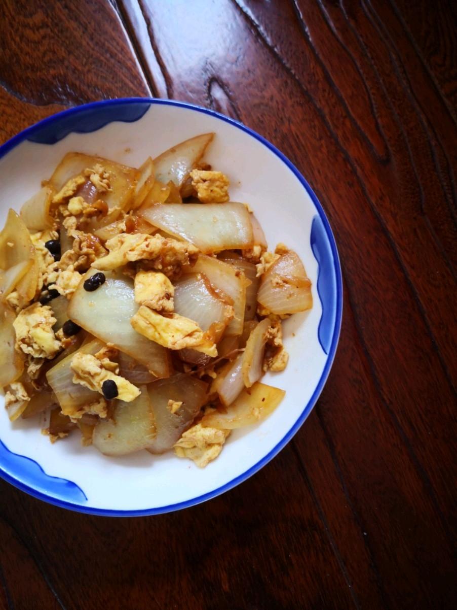 豆豉圆葱炒鸡蛋