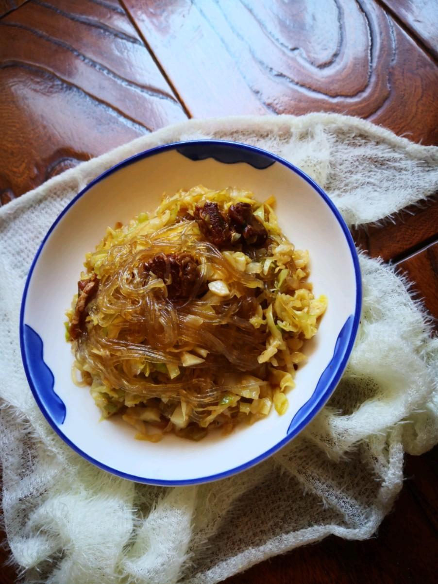 红烧肉炒圆白菜