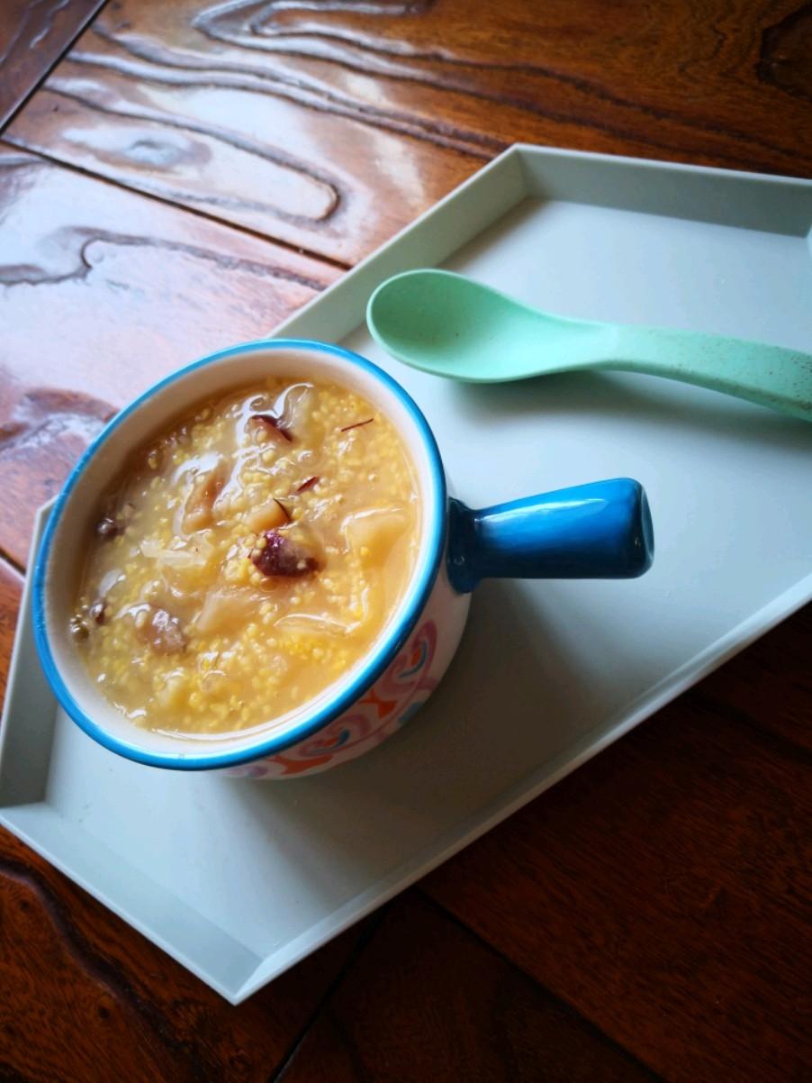 玉米糁银耳粥