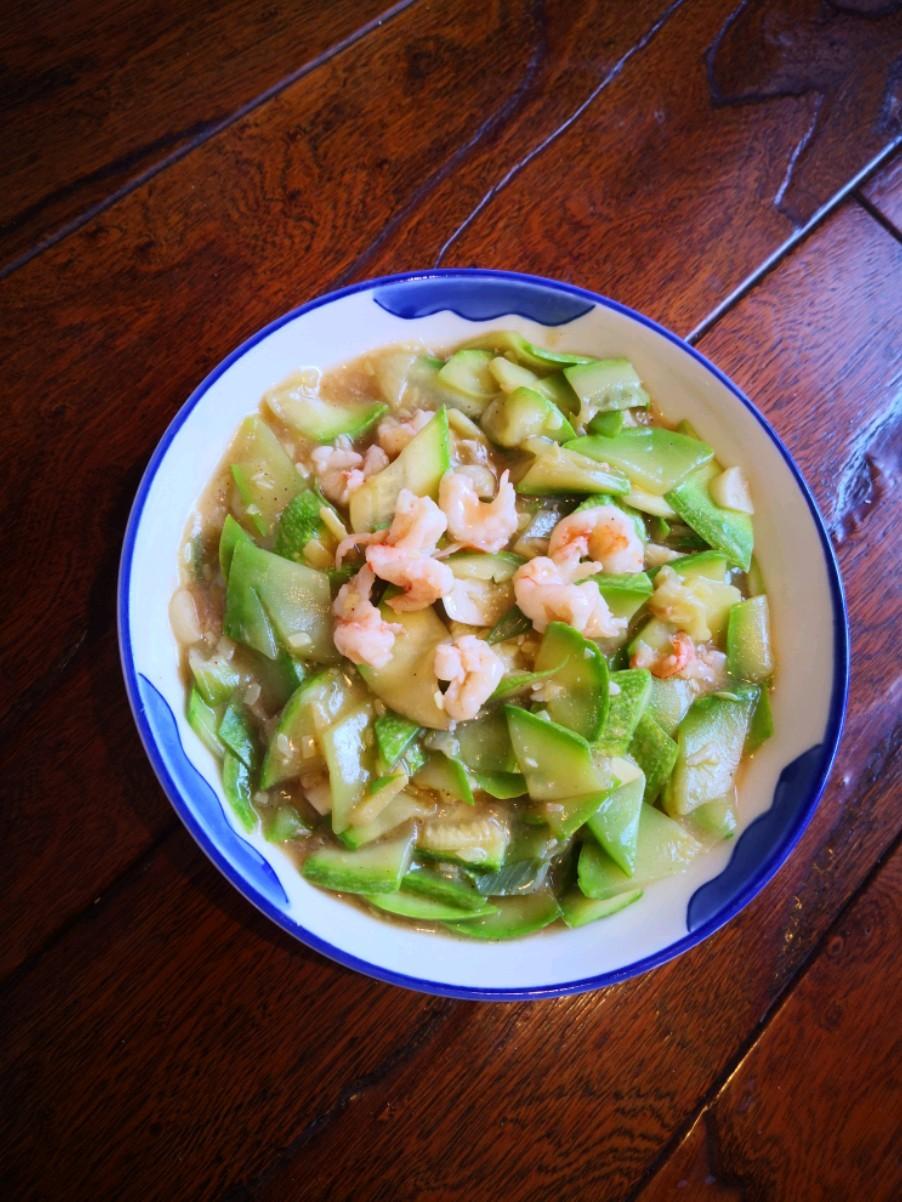 鲜虾炒西葫芦