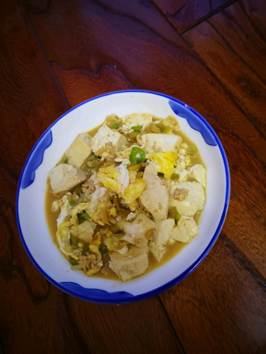 榨菜炒豆腐
