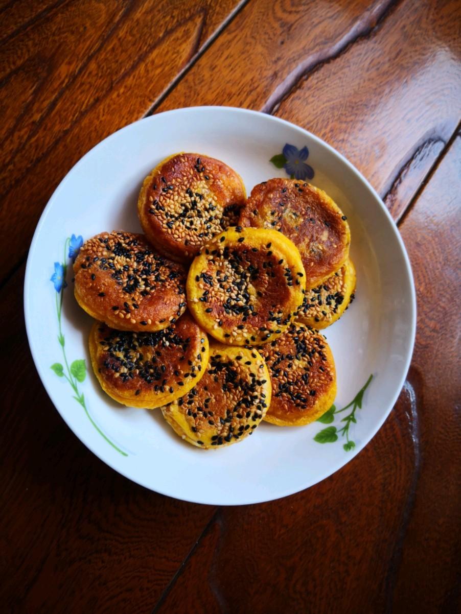 芝麻椰蓉南瓜饼