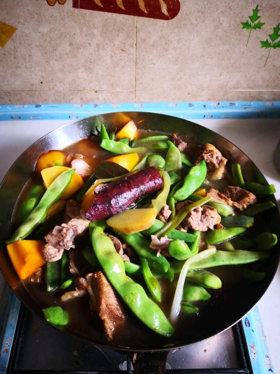 扇骨炖油豆