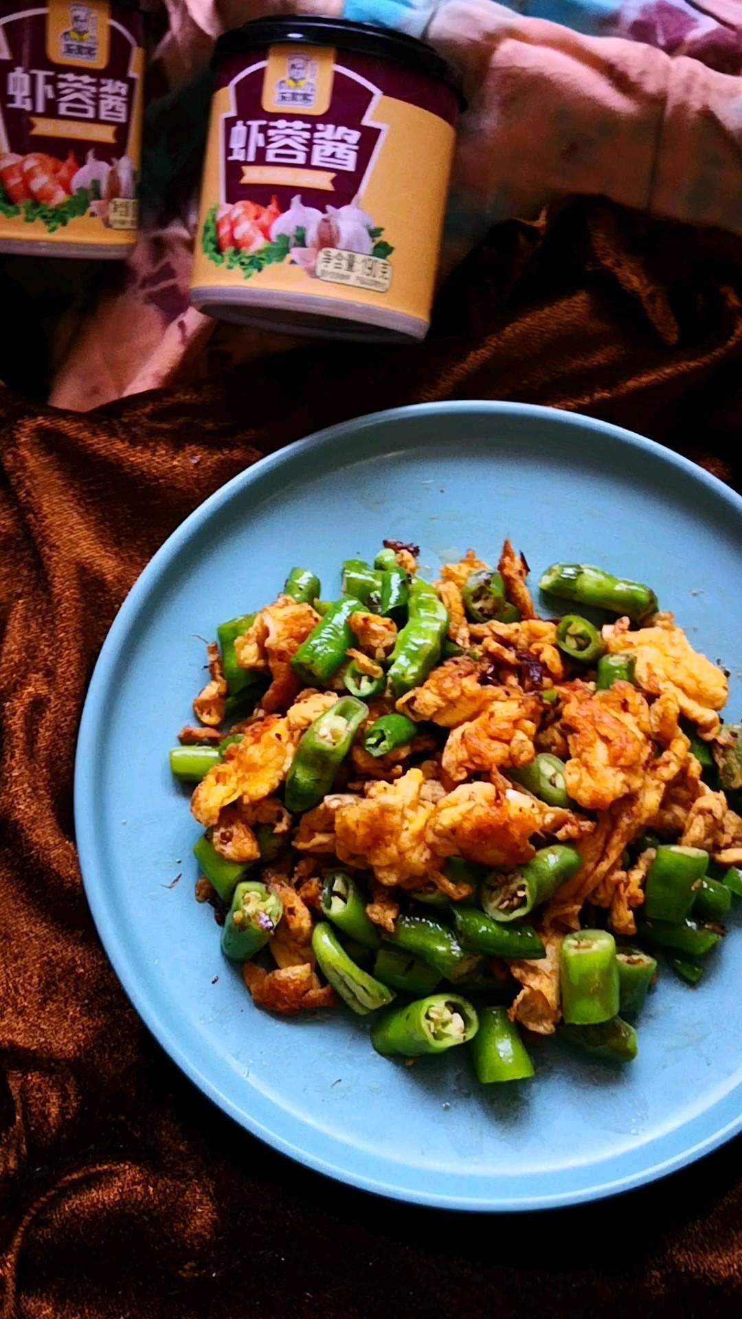 虾蓉酱炒鸡蛋