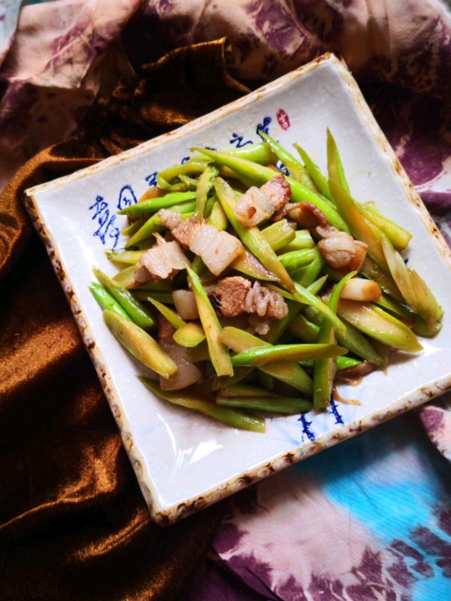 肉片炒芦笋