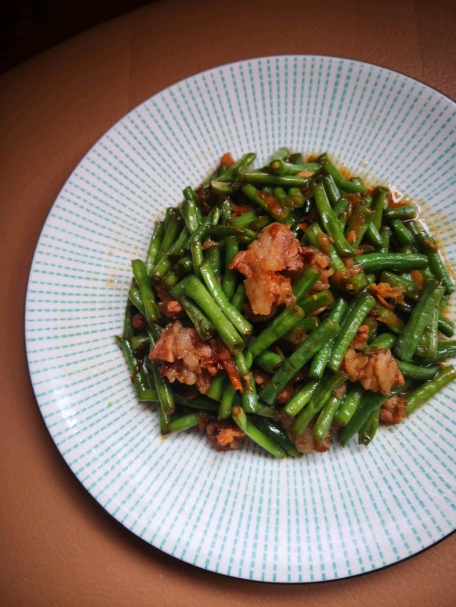肉片炒豇豆