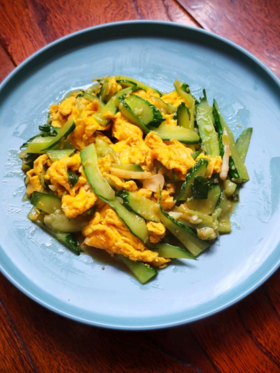 耗油鸡蛋炒瓜片