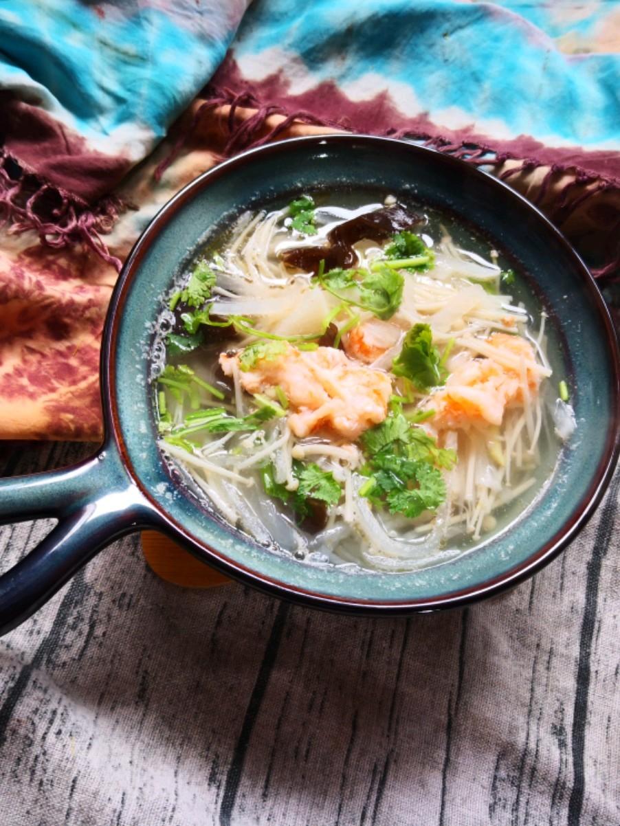 金针菇鲜虾汤