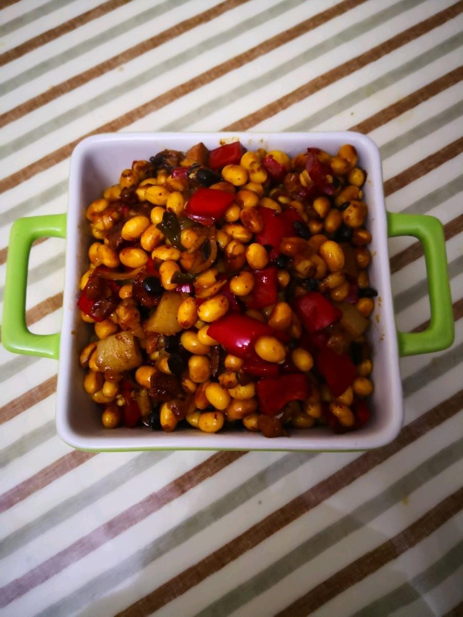 豆豉炒黄豆