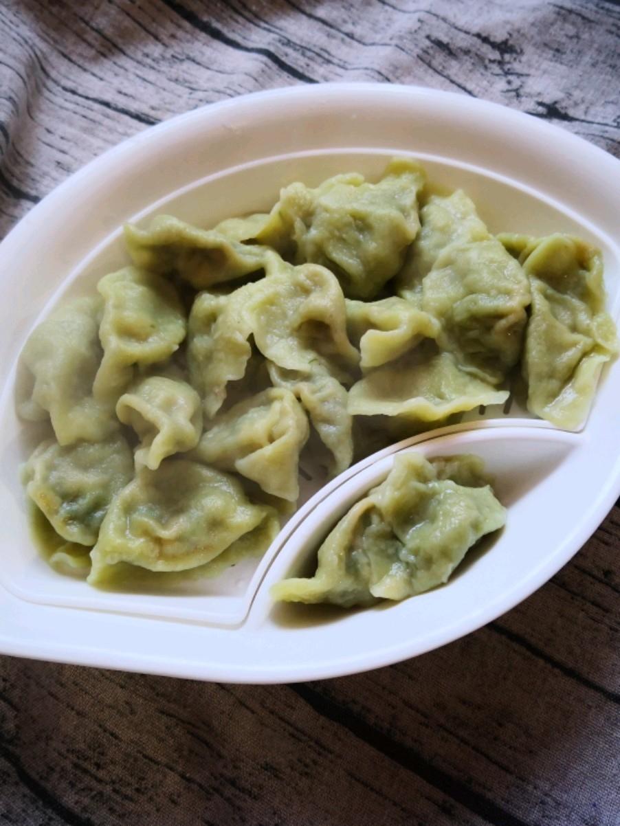 绿色荤香水饺