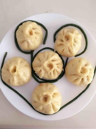 南瓜面豇豆包子的做法