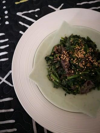 菠菜拌海参的做法
