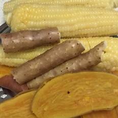 蒸玉米地瓜山药