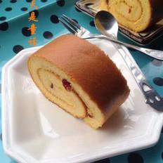 蔓越梅南瓜蛋糕卷